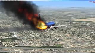 FSX Emergencia Boeing 737-800 sobre Los Ángeles.