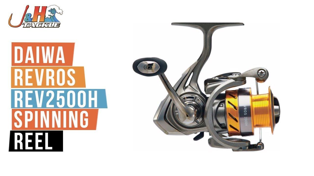 54bc249ec69 Daiwa Revros REV2500H Spinning Reel   J&H Tackle - YouTube