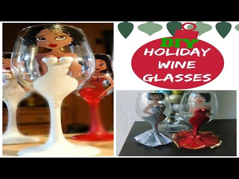 DIY Holiday Glitter Wine Glasses| Recreation Re-creation #4
