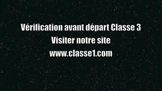 Vérification avant départ VAD classe 3