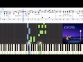 [La La Land] Ryan Gosling and Emma Stone - City Of Stars (Synthesia Piano Tutorial w/Lyrics) video & mp3