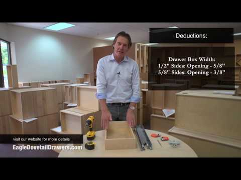How To Measure For Dovetail Drawers - By Eagle Woodworking - With Captions