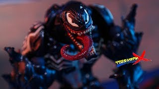 Review Venom Revoltech Amazing Yamaguchi Ame Comi Kaiyodo Marvel Action Figure Revision Español