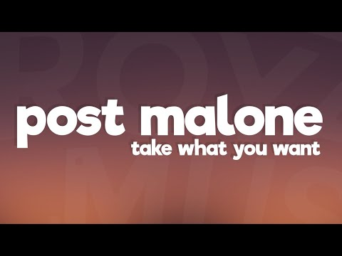 Post Malone - Take What You Want (Lyrics) ft. Ozzy Osbourne, Travis Scott