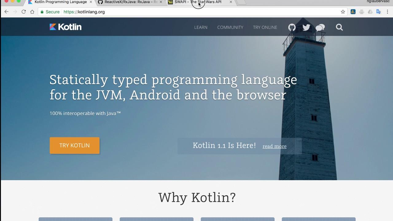 RXJava + Kotlin + Retrofit + Star Wars API