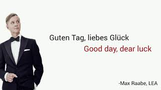Guten Tag, liebes Glück, Max Raabe - Learn German With Music, English Lyrics