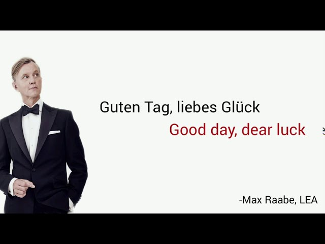 Guten Tag, liebes Glück, Max Raabe - Learn German With
