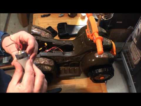 Kids Trax Power Wheels 6v to 18v mod