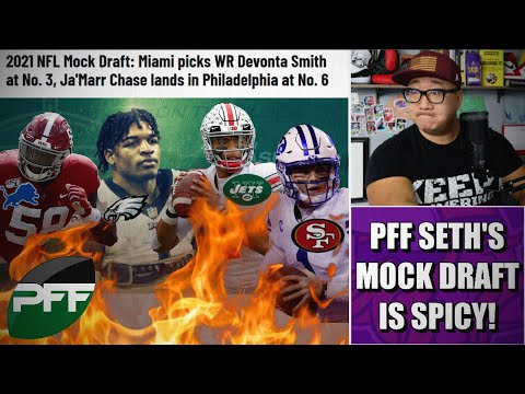 Reaction to Pro Football Focus Seth Galina's SPICY First Round NFL Mock Draft 🔥🌶️🔥🌶️🔥