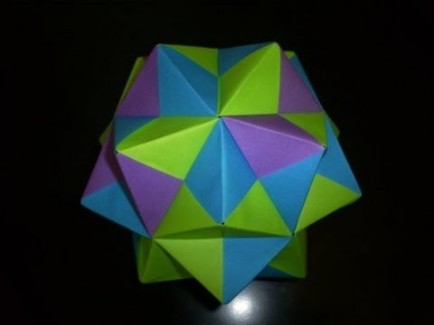 Modular Origami - Sonobe Small Triambic Icosahedron - From 30 Sheets of paper.