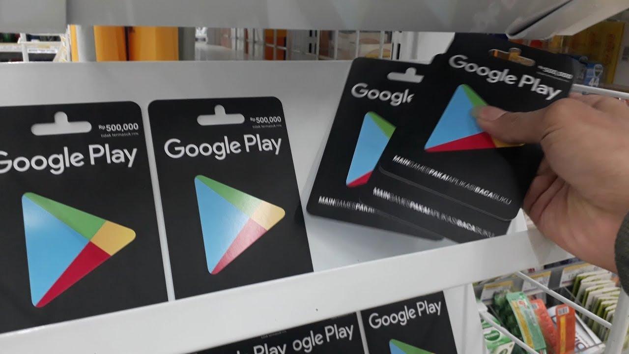 Borong Kartu Google Play 1,5 Juta + Giveaway #vlog di indomaret - YouTube
