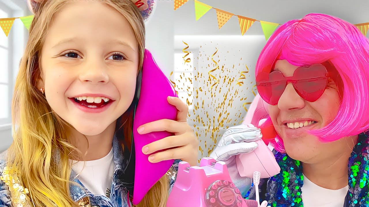 Nastya gets a surprise from her best friends. Story for kids