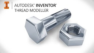 Create real grooved threads on bolts, screws, holes & nuts | Autodesk Inventor