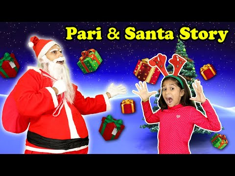 Christmas Special Pari And Santa Claus Story | Moral Story | Pari's Lifestyle