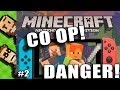 Let's Play Minecraft 2-Player SPLIT SCREEN Co-Op! (Nintendo Switch Edition) Part 2 | The Basement