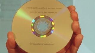 Datentraeger mit LightScribe bedrucken