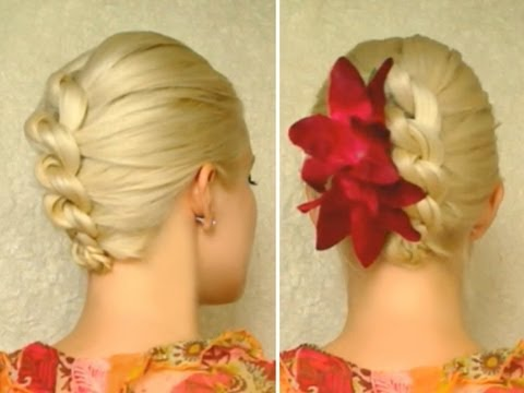 knot braid prom hairstyle for medium long hair tutorial elegant wedding updo youtube