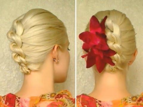knot braid prom hairstyle for medium long hair tutorial elegant wedding updo youtube