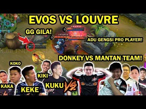 DONKEY VS MANTAN TEAM EVOS! DUEL BERGENGSI PRO PLAYER KEDUA TEAM! EVOS VS LOUVRE TEAM INTI TERBARU!