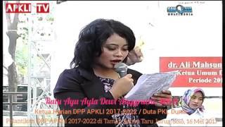 Ratu Ayu Ayla Dewi Anggraeni - Ketua Harian DPP APKLI 2017-2022 / Duta PKL Dunia.