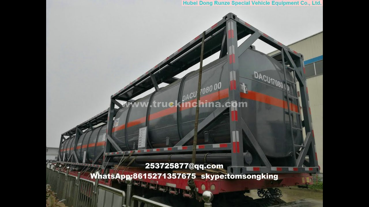 10units 20 FT Tank Container PE Lined Hydrochloric acid tank export to Hanoi Vietnam & 10units 20 FT Tank Container PE Lined Hydrochloric acid tank export ...