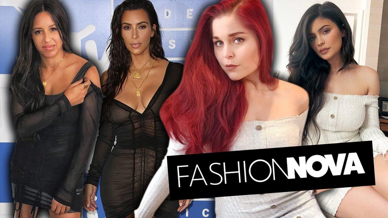 Trying On Kardashian Outfits from Fashion Nova
