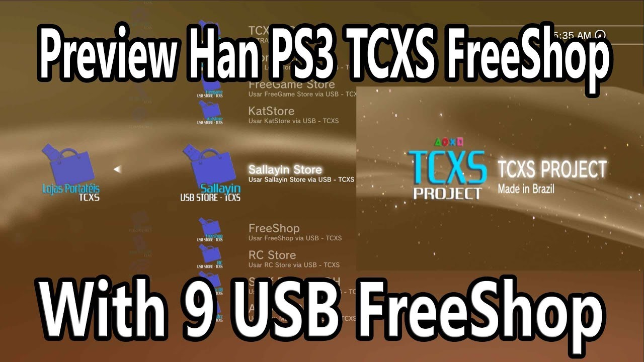Preview Han PS3 TCXS FreeShop With 9 USB FreeShop