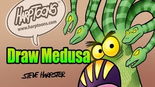 Learn To Draw Medusa- Harptoons