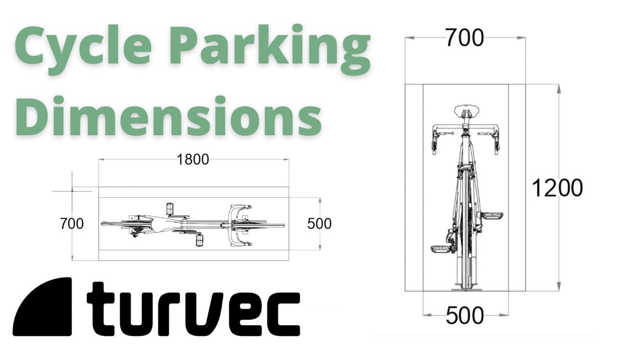 Bike parking space dimensions   Turvec