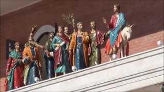 Иисус Христос и 12 апостолов. Движущиеся фигуры в Йошкар-Оле.