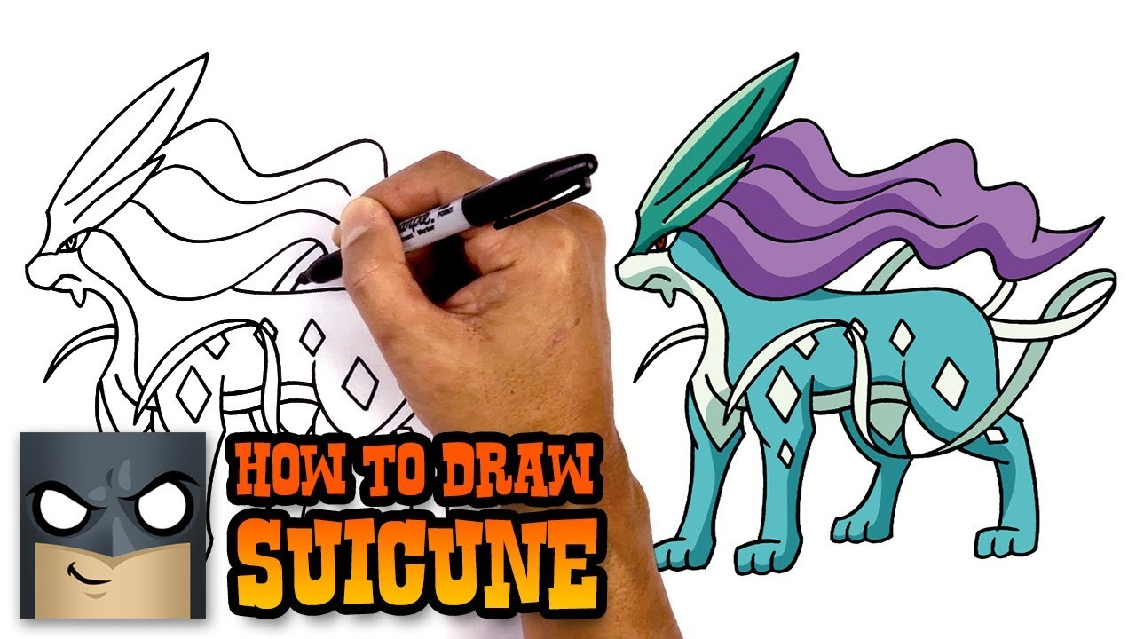 How to Draw Pokemon | Suicune | Step by Step