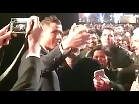 Cristiano Ronaldo FAILS Trying to Break The Rock's Selfie World Record