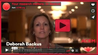 Your research matters at ACRM: Dr Backus