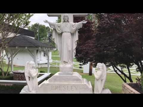 Elvis & Gladys Presley Original Burial Forest Hills Mausoleum Memphis Part 1