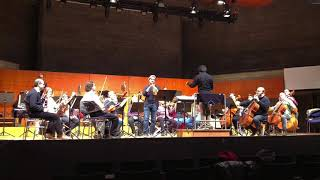 Rehearsal for a concert with the Georgisches Kammerorchester Ingols...
