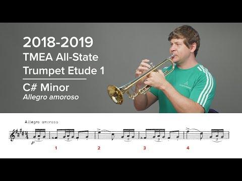 2018-2019 TMEA All-State Trumpet Etudes – Houghton Horns