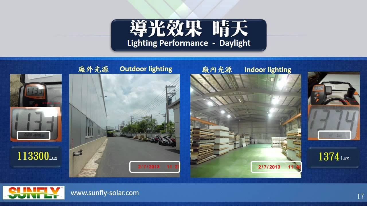 LED光導照明系統 (陽昇綠能科技股份有限公司 SunFly) - YouTube