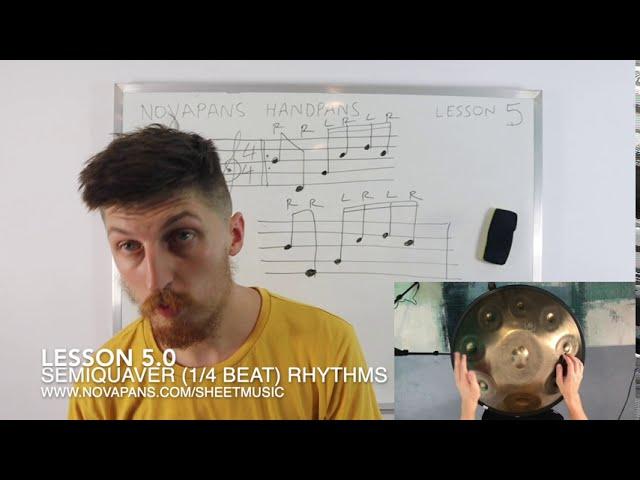 Semiquaver (Quarter-Beat) Rhythms | Lesson 5 | Handpan Lessons | NovaPans Handpans