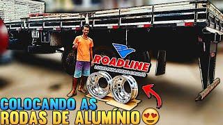 Montando As Rodas De Alumínio ROADLINE No Meu Caminhão #BrilhoImcomparavél