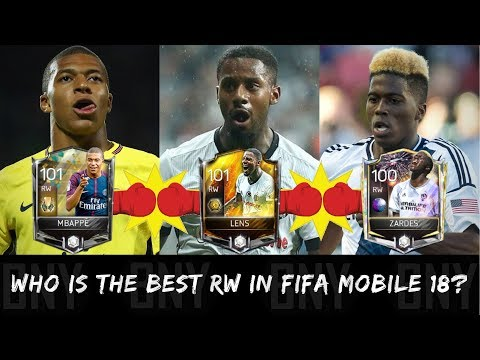 WHO IS THE BEST MASTER RW PLAYER IN FIFA MOBILE 18? (LENS VS MBAPPE VS ZARDES)