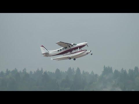 Cessna 208 Caravan Seaplane [N688RB] Takeoff Portland Airport (PDX)