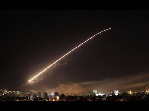 US strikes Syrian sites with allies