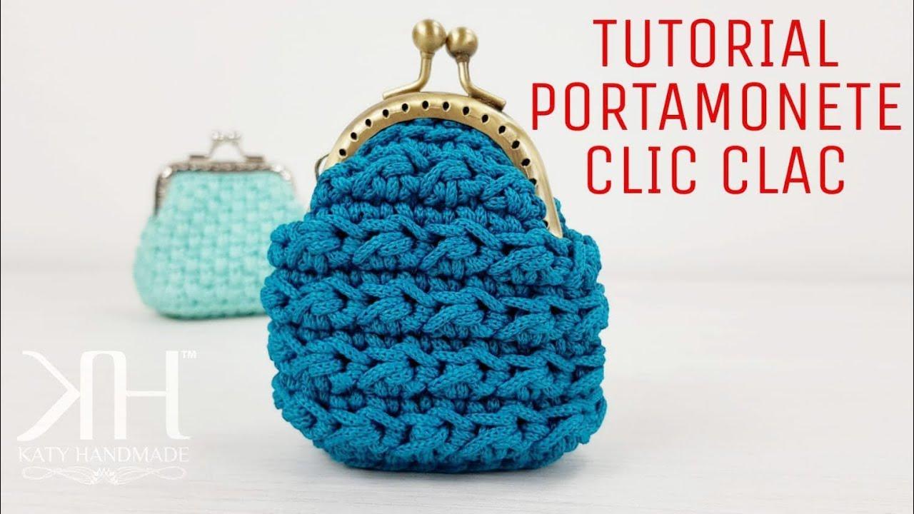 Tutorial Portamonete Clic Clac Punto Econocciolina Crochet