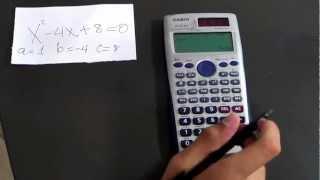 Resolver ecuaciones cuadráticas en la Casio FX-991ES