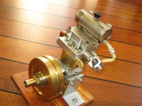 Homemade DOHC engine, low rpm, nitro 4 stroke motor