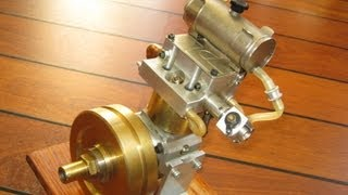 Homemade DOHC engine, low rpm, nitro 4 stroke motor