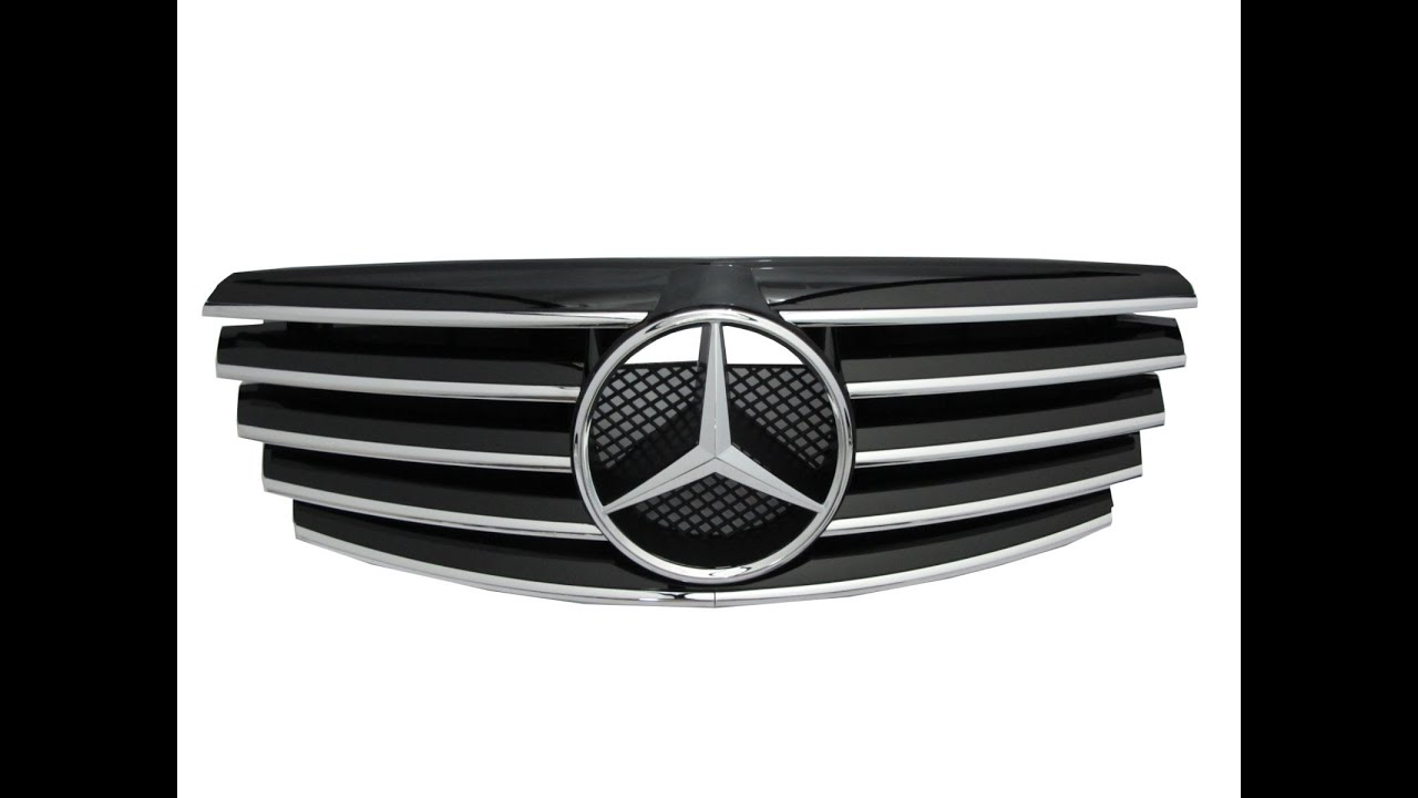 Crazythegod w210 2000 2002 faceliftd grille grill 5fin for 2011 mercedes benz e350 grill