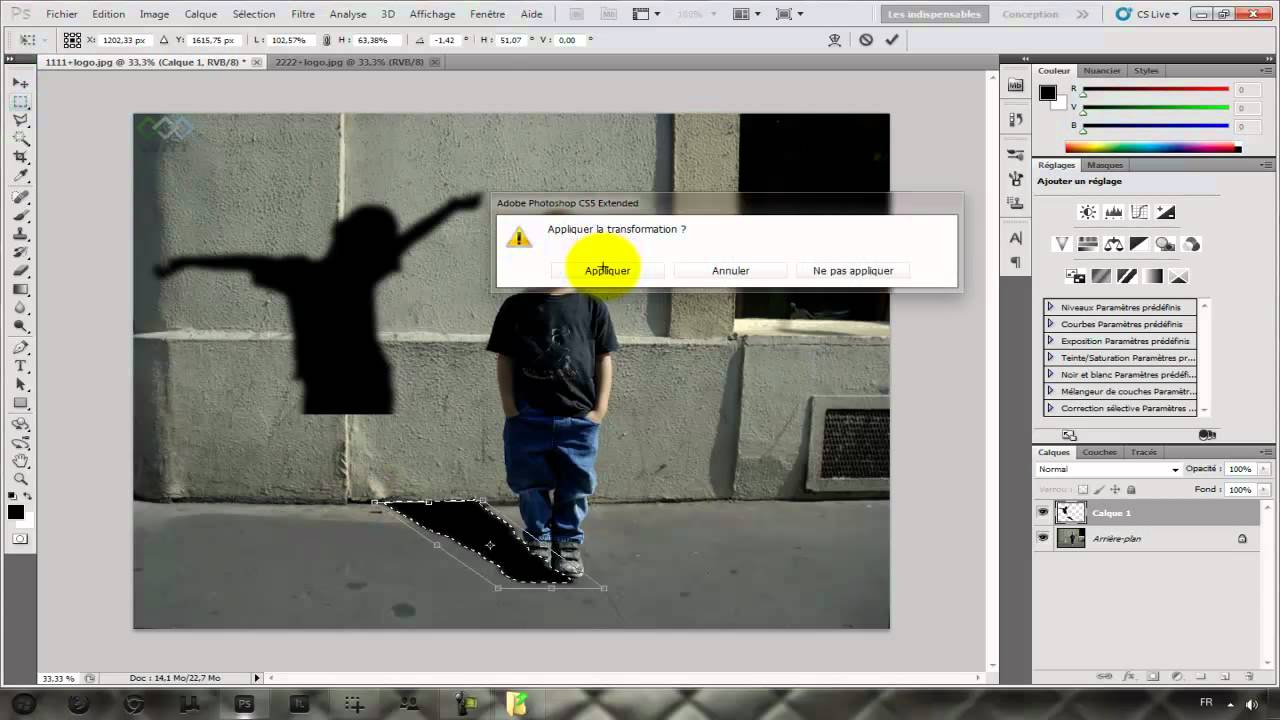 Tutoriel Photoshop Cs5 Changer L Ombre D Une Personne Ofppt