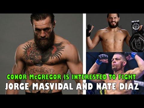 Conor McGregor Is Interested To Fight Jorge Masvidal And Nate Diaz, Israel Adesanya Vs Yoel Romero
