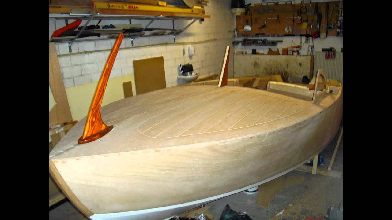 building homemade 15' wooden runabout - YouTube